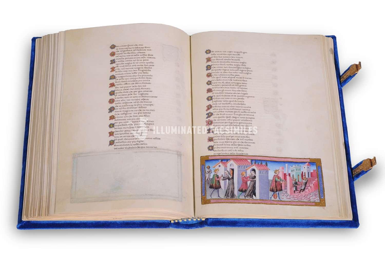 ILLUMINATED FACSIMILES®, Franco Cosimo Panini Editore – Divina Commedia di Alfonso d'Aragona – photo 01, copyright Illuminated Facsimiles