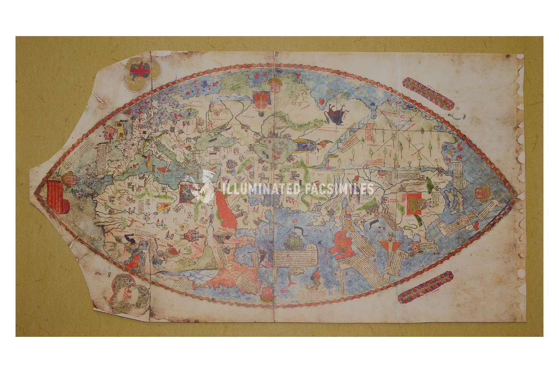ILLUMINATED FACSIMILES®, Treccani – Mappa Mundi 1457 – photo 01, copyright Illuminated Facsimiles