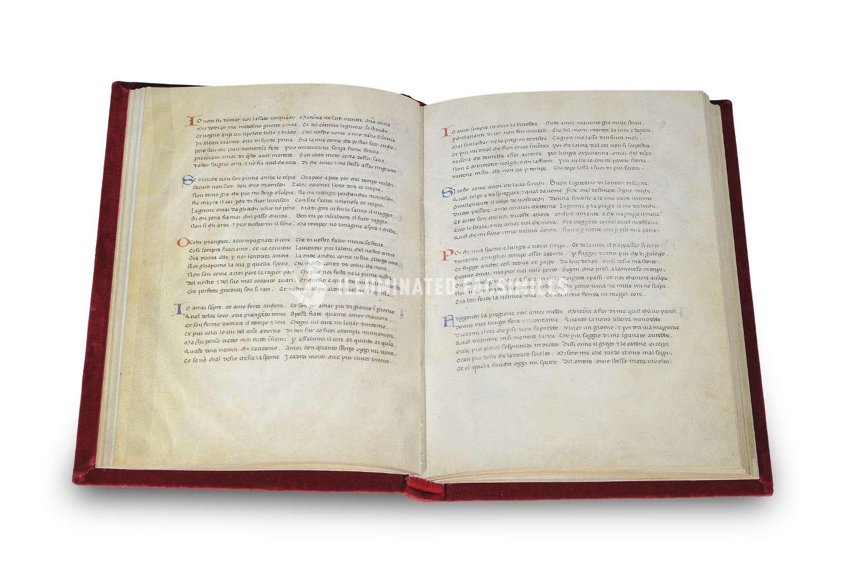 ILLUMINATED FACSIMILES®, Editrice Antenore – Rerum Vulgarium Fragmenta – photo 03, copyright Illuminated Facsimiles
