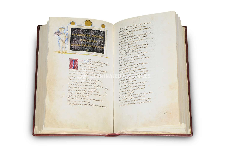 ILLUMINATED FACSIMILES®, Franco Cosimo Panini Editore – Petrarca. Opere Italiane – photo 02, copyright Illuminated Facsimiles